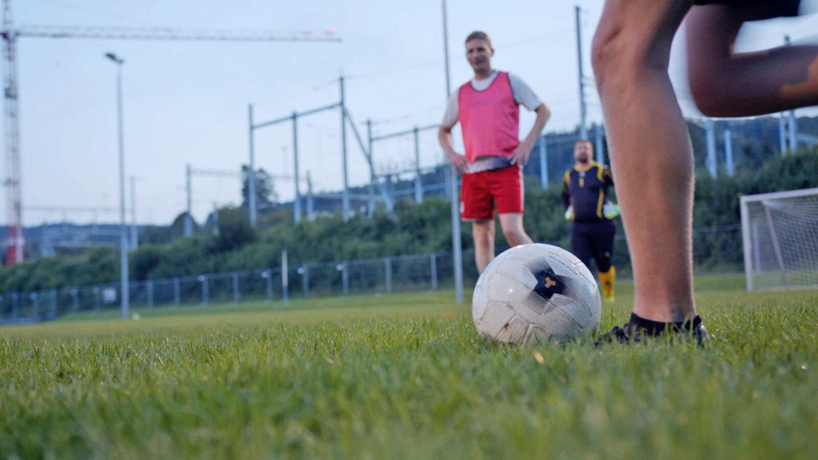 FC ESB beim Fussball spielen